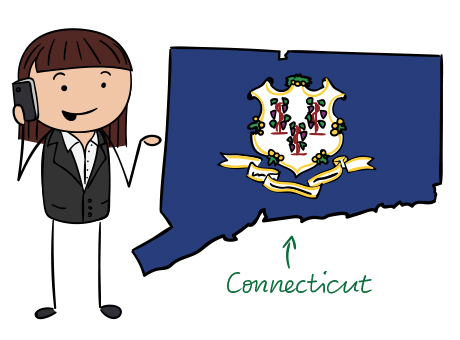 Connecticut phone number map