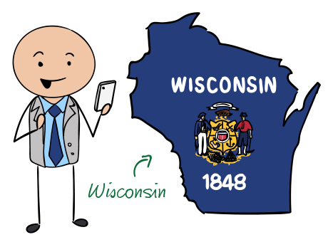 Wisconsin phone number map