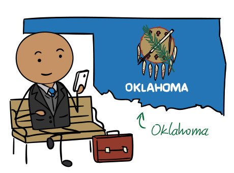 Oklahoma phone number map