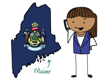 Maine phone number map