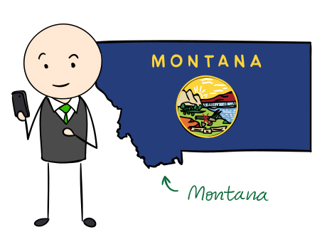 Montana phone number map