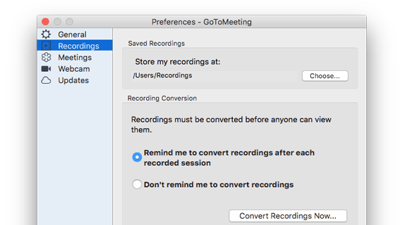 Record Online Meetings | GoToMeeting
