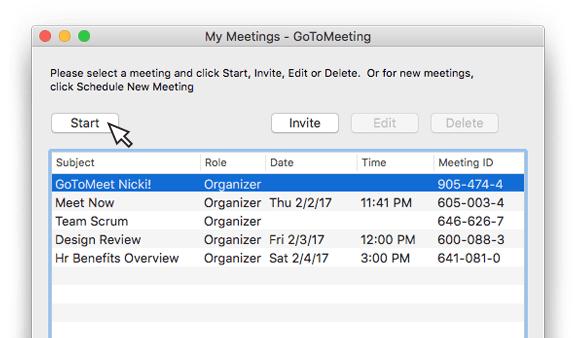 Setting Up an Instant Meeting or Scheduled Meetings | GoToMeeting