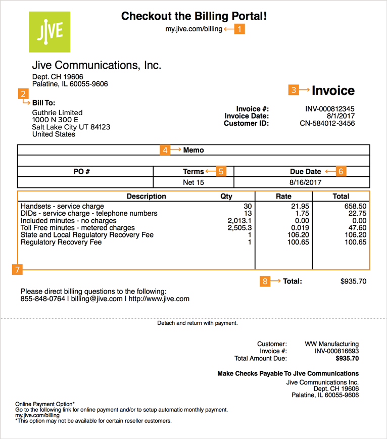 Your Bill  Invoice Bill To