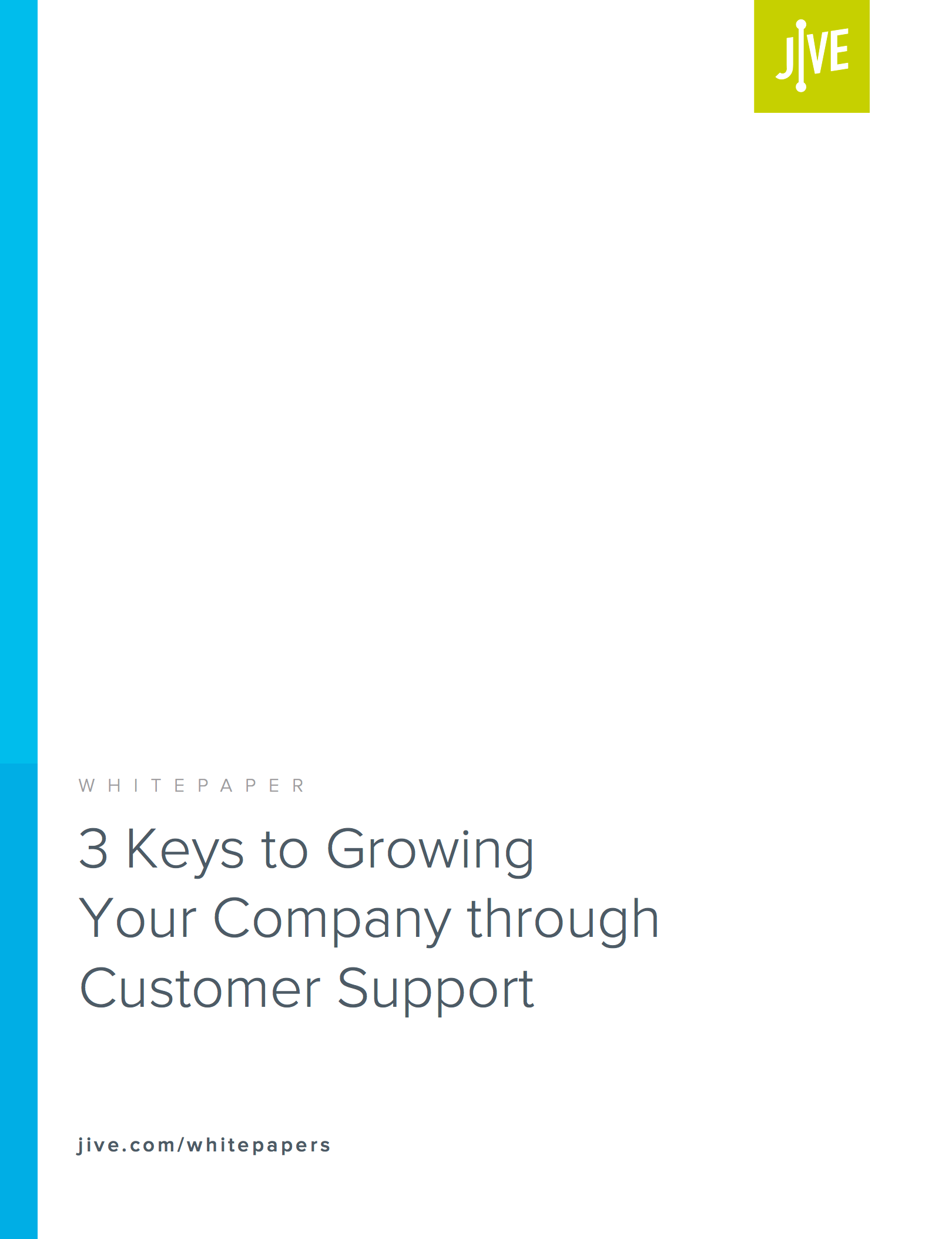 Screen Shot Whitepaper 3 Keys to Growing Your Company through Customer Support