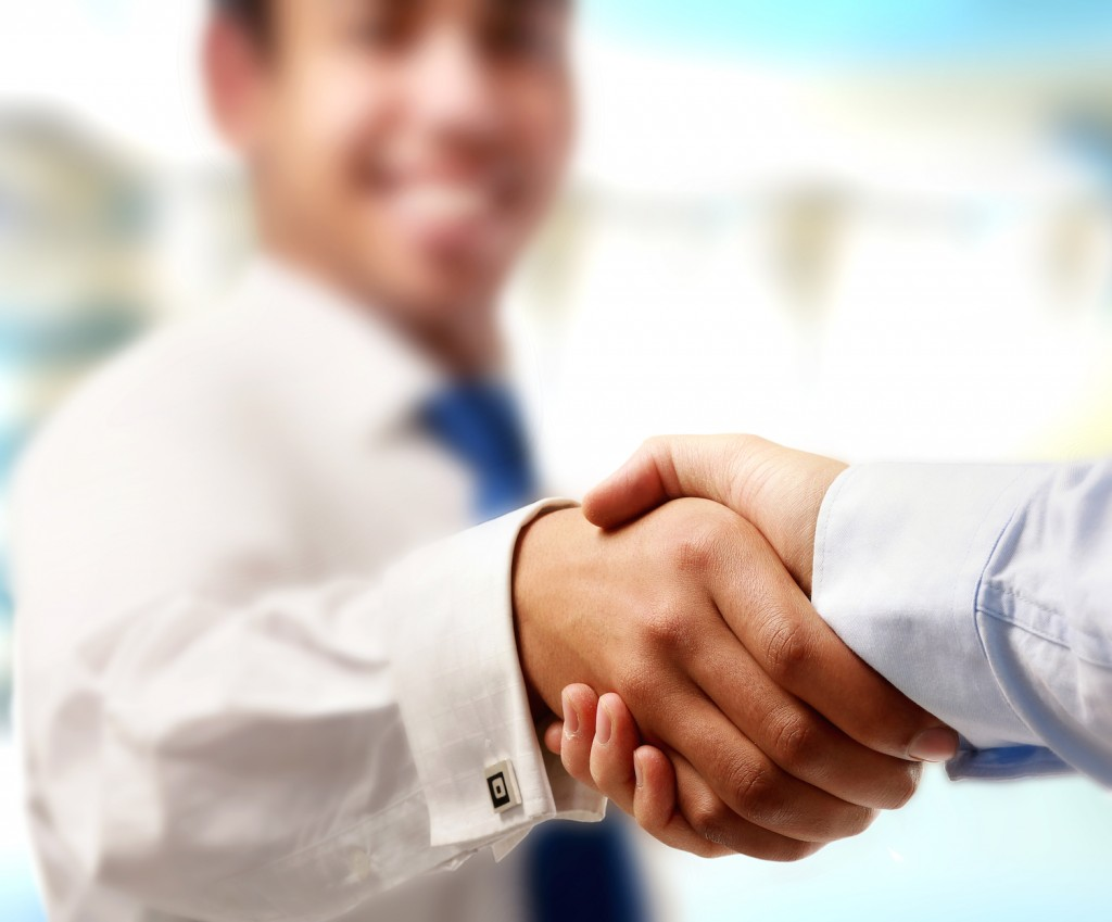 Shaking Hands - Jive's Affiliate Program