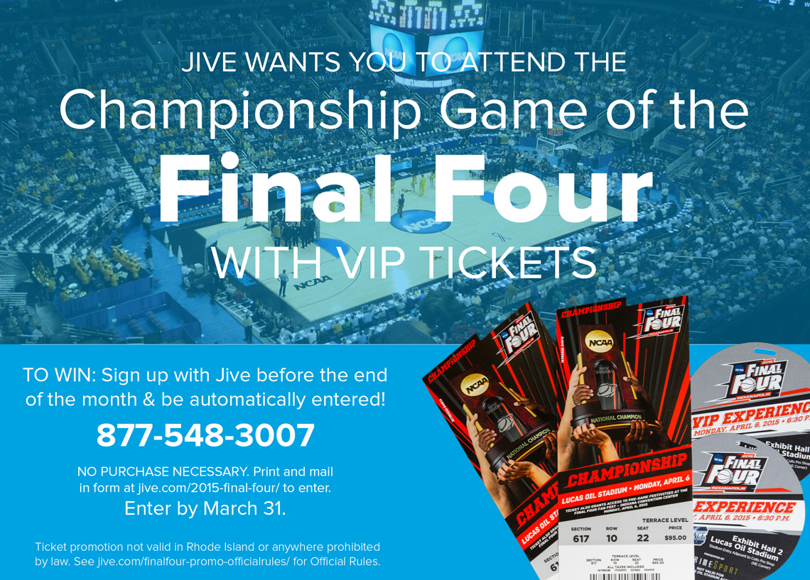 Final Four Jive Sweepstakes