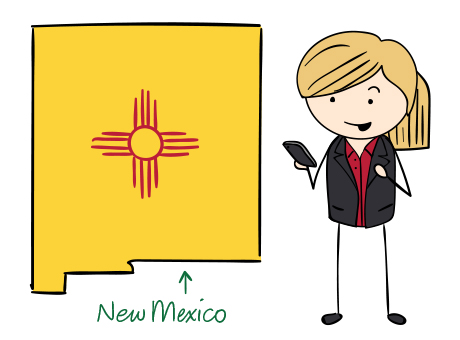 New Mexico phone number map