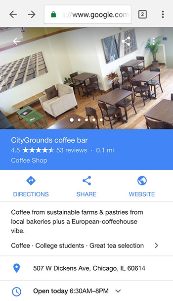 google mobile directory serp