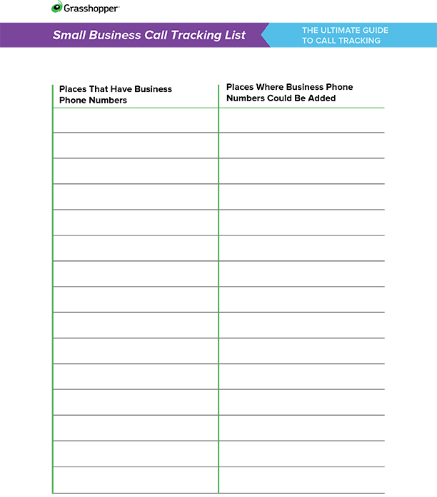 phone call tracking sheet