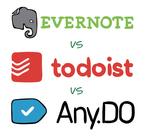 Evernote vs. Todoist vs. Any.do