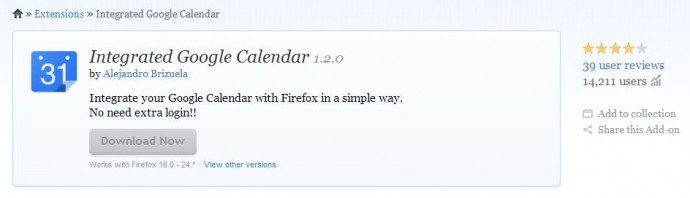 Google Chrome Integrated Google Calendar Extension