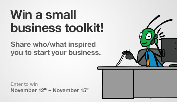 Win a Small Business Toolkit from Grasshopper