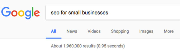 seo for small business search results