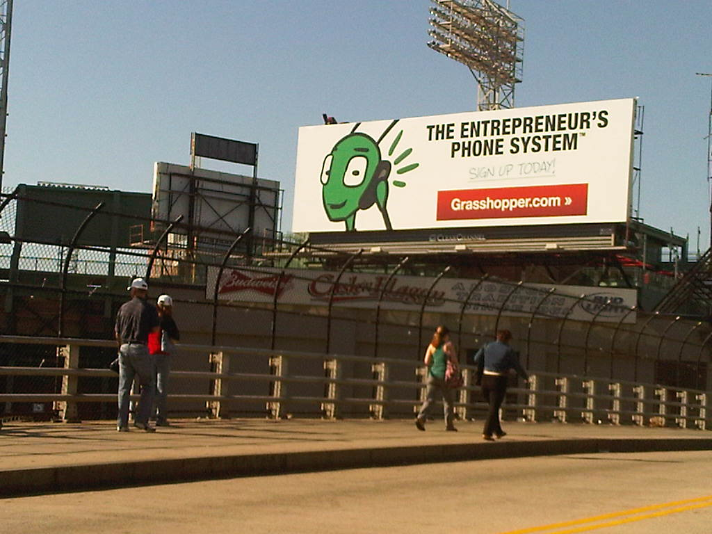 The Grasshopper billboard at Fenway Park