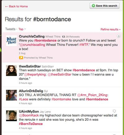 results for hashtag borntodance