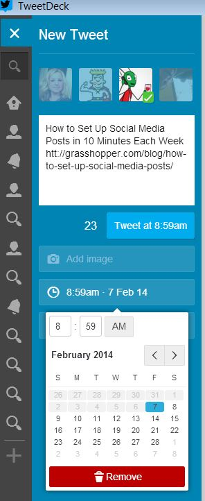 How to Set Up Social Media Posts in 10 Minutes Each Week