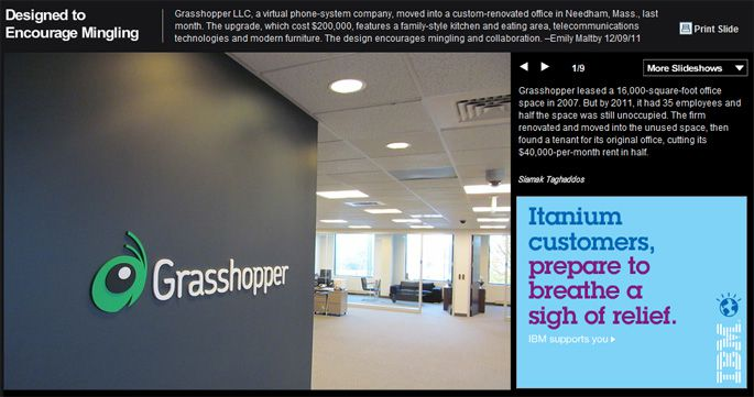 Grasshopper is the Wall Street Journal's Workplace of the Week!