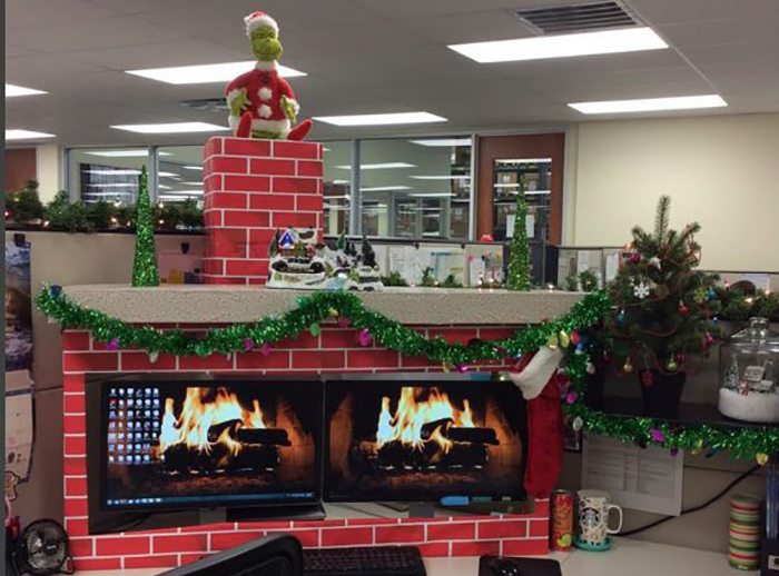 grinch fireplace