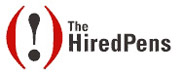 The Hired Pens Logo