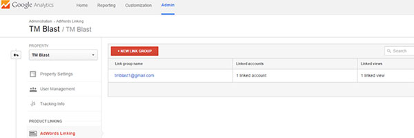 Syncing google analytics step 2