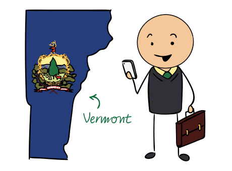 Vermont phone number map