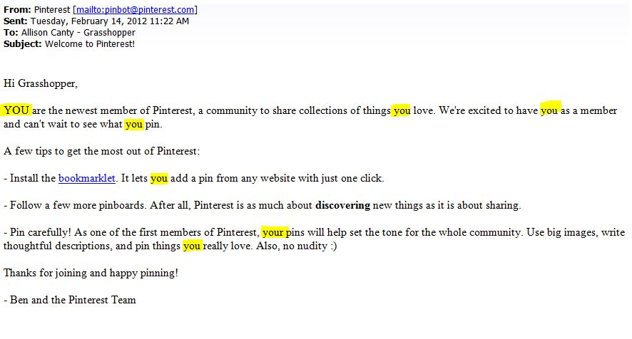 good emails for online dating examples