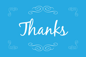 Thank you card example 1
