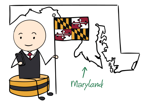 Maryland phone number map