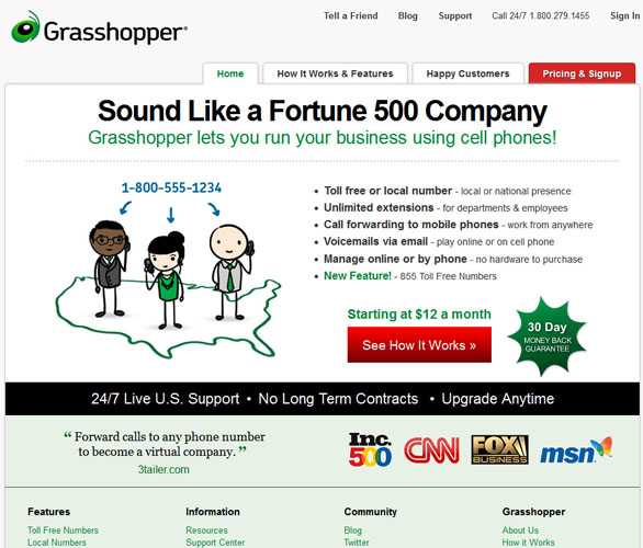 Grasshopper Old Website 2012