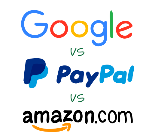 Online Payment Selector: Google vs. PayPal vs. Amazon