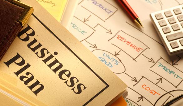 Business Plan On A Desk