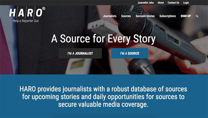 help a reporter out homepage