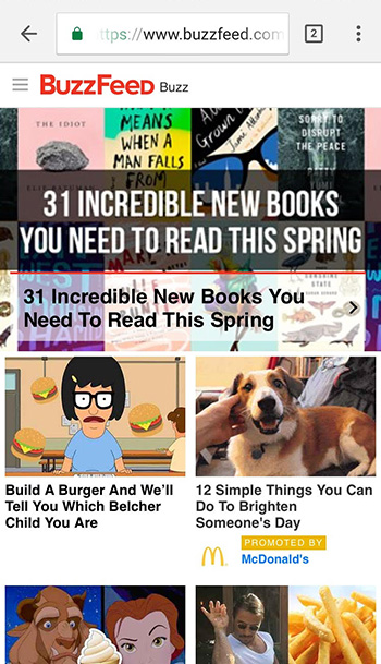 buzzfeed mobile website
