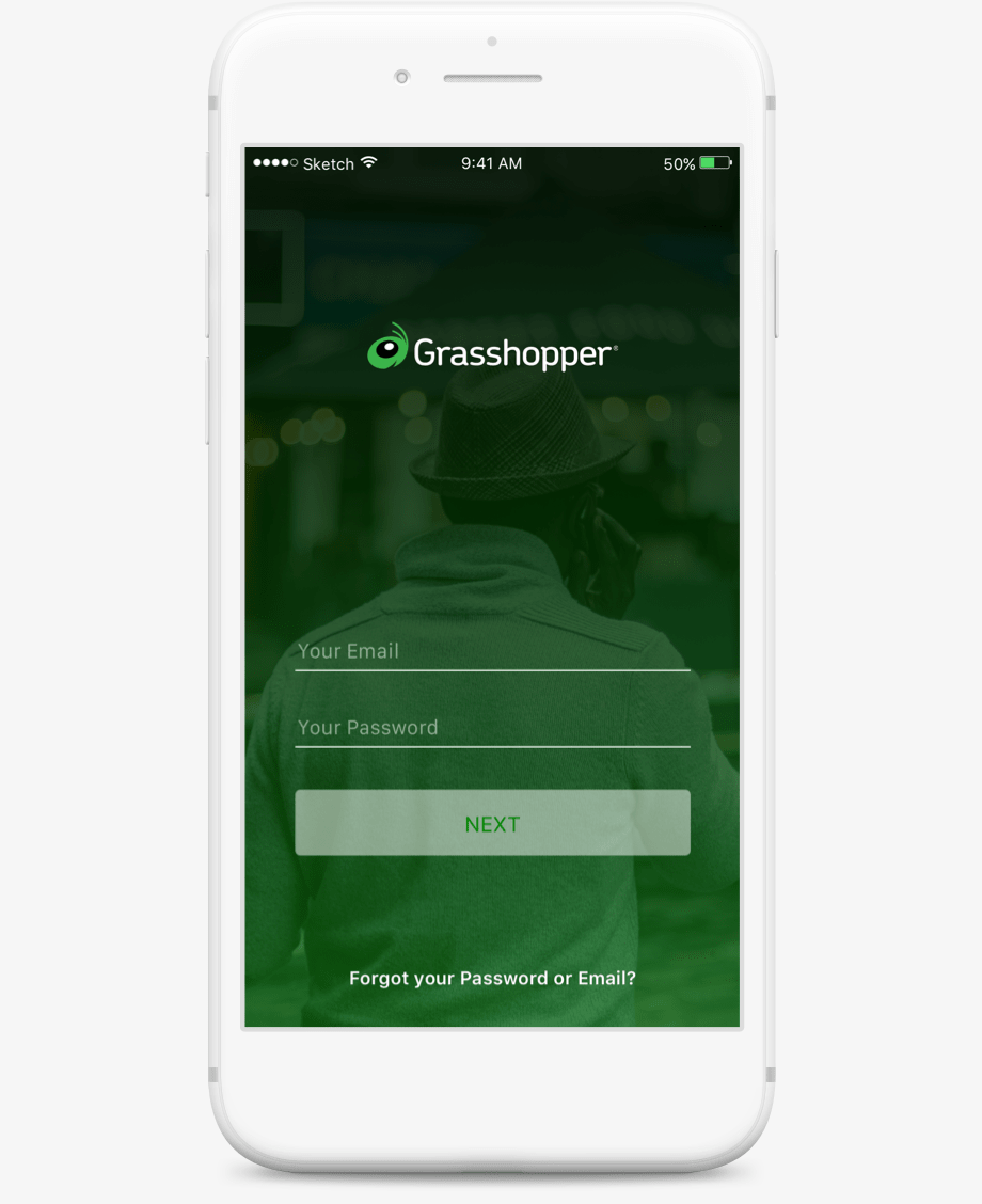 Grasshopper mobile app screenshot