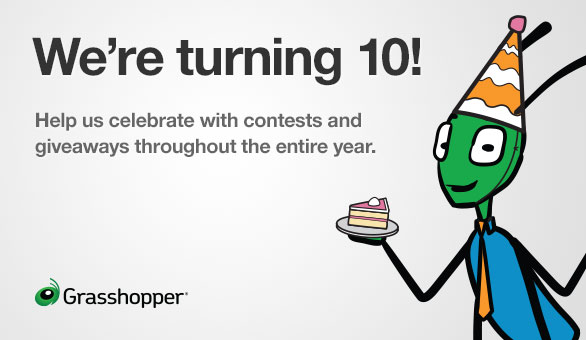 Grasshopper is turning 10
