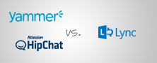 Yammer vs Lync vs HipChat - Comparing Internal Social & Messaging Tools