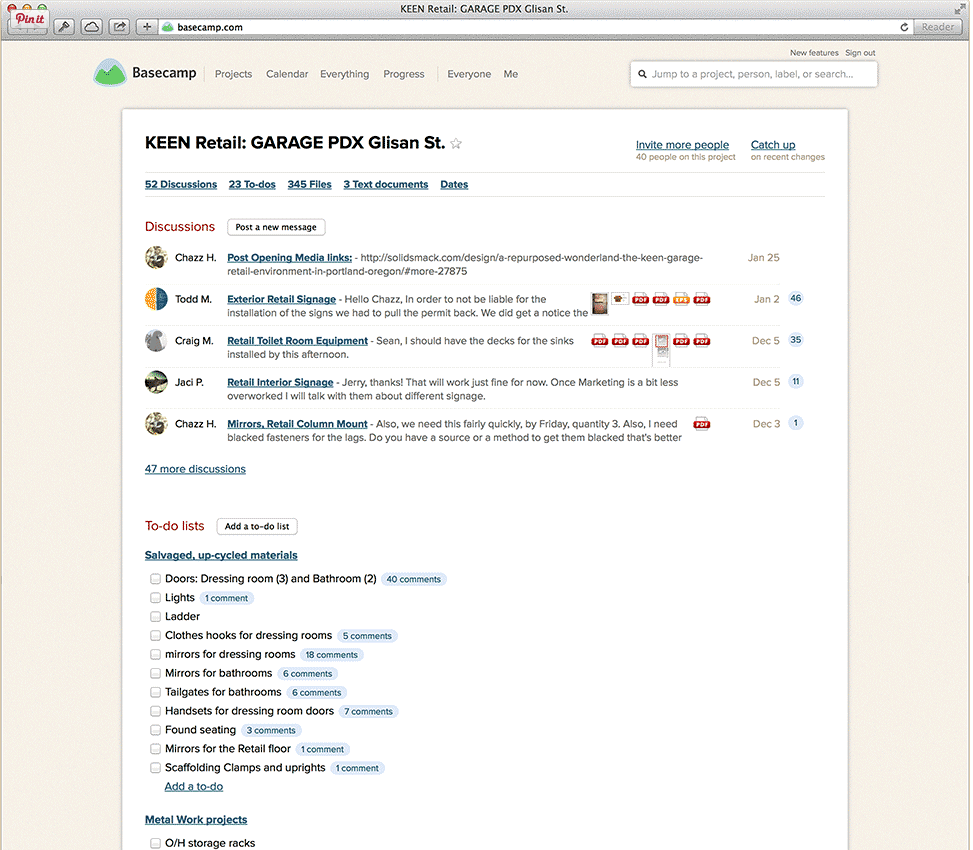 basecamp screenshot