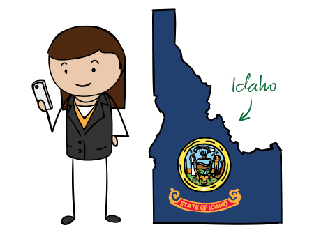 Idaho phone number map