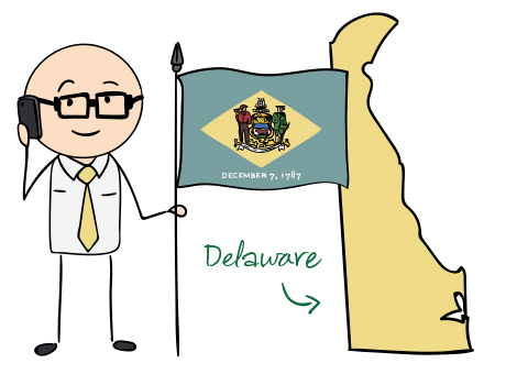 Delaware phone number map