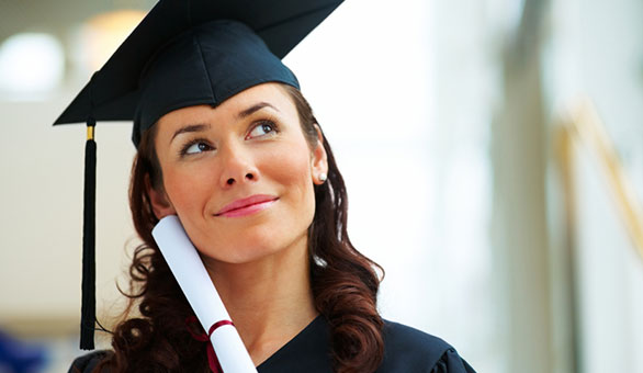 Optimistic Woman at Graduation