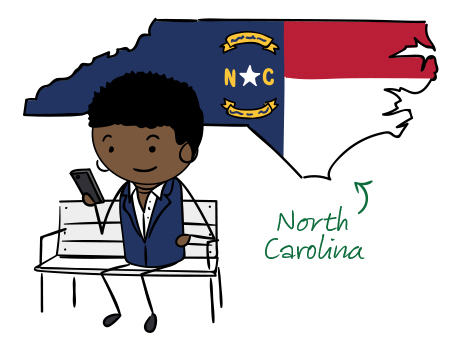 North Carolina phone number map