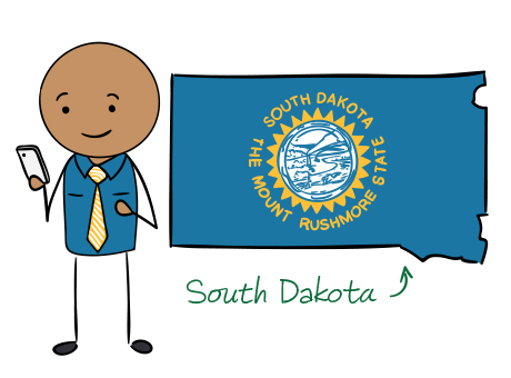 South Dakota phone number map