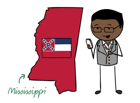 Mississippi phone number map