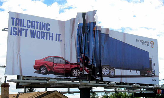 Tailgating billboard