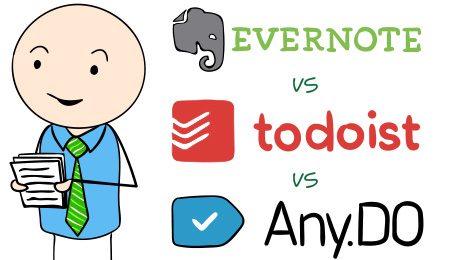 Evernote vs Todoist vs Any.do - Productivity Apps Comparison
