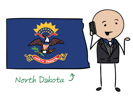 North Dakota phone number map