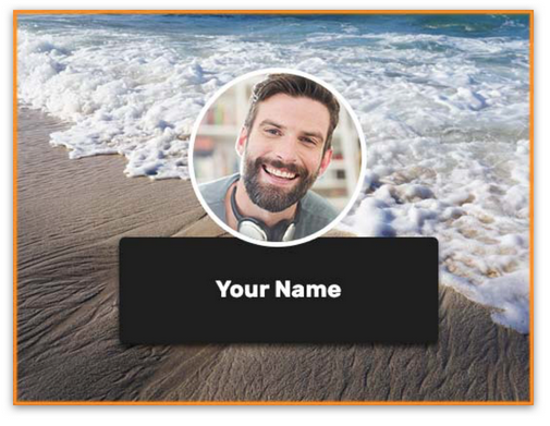 Customize your meeting background