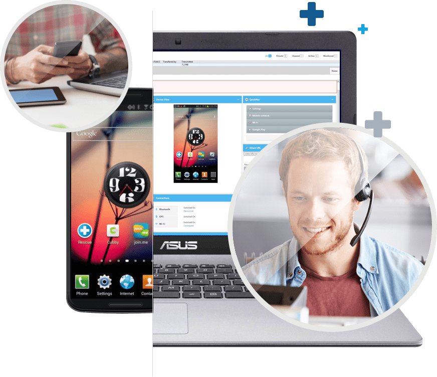 click2Fix Mobile device Support feature